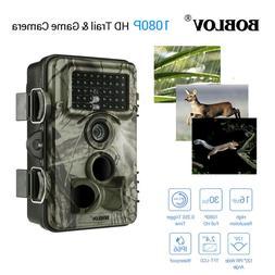 1/2Pcs 16MP 1080P Game Hunting Camera 8GB Card+Bag Video Rec