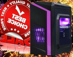AMD Quad Gaming Computer Desktop PC Tower 8GB DDR4 2TB R7 Gr