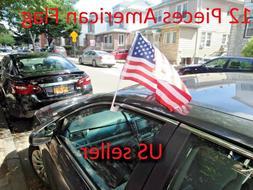 12 Pcs US American Car Window clip American Patriotic USA Au