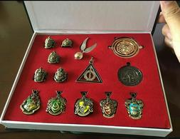 14 PCS Harry Potter wand Magical wands rings necklace decora