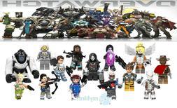 14PCS Computer Game OW Character D.va Tracer Mini Figure Bui