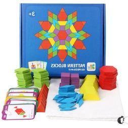 155pcs Kids Colorful Wood Jigsaw Puzzle Game Intelligent Edu