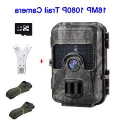 16MP 1080P 16GB Trail Game Scouting Camera With 4 in 1 Card