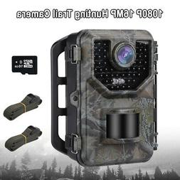 16MP 1080P Hunting Camera With 16GB Photo Video + 2X Belt Fa