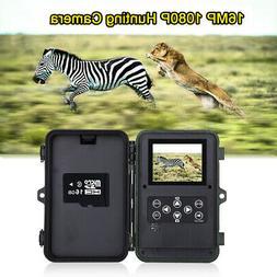 16MP 16GB Hunting & Game Trail Camera 1920x1080P 48PCS Low G