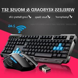 Wireless Gaming Keyboard And Mouse Set Bundle 6 Key 2.4GHz F