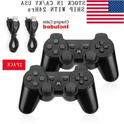 2PCS Wireless Bluetooth Video Game Controller Pad for PS3 Pl