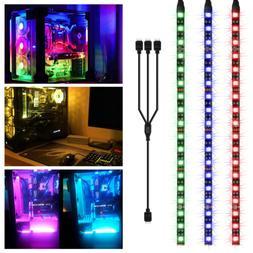 3PCS 30cm RGB Gaming LED Computer Case Strip Light for Asus