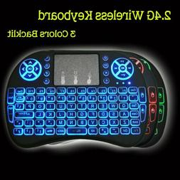 3 Color-Wireless Keyboard Mouse Pad for PC's= Smart TV's-Gam