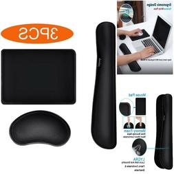 3PCS Keyboard And Mouse Gel Pad Ergonomi Mouse With Wrist Pa