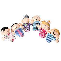 6pcs Baby Kids Plush Cloth Play Game Learn Story Family Fing