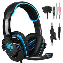 Sades 708GT Upgrade Gaming Headset 3.5mm Surround Stereo w/M