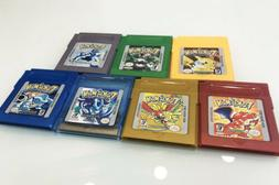 7PCS Game Cards Pokemon for Nintendo GB GBC GBA Game Boy Gam