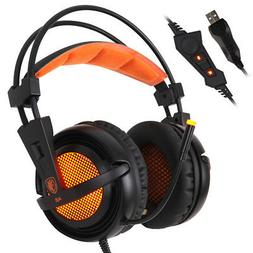 SADES A6 USB Surround Sound Stereo Over-ear Gaming Headset L