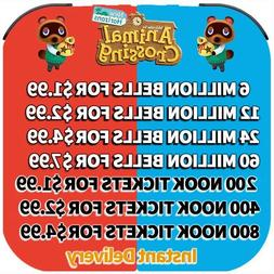 Animal Crossing:New Horizons Bells, Nook Miles Tickets, Fish