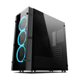 ATX/ITX Mid-Tower Gaming PC Computer Case Tempered Glass W/1