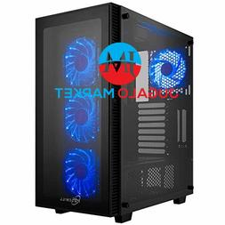 Rosewill ATX Mid Tower Gaming PC Computer Case with Blue LED