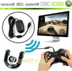 Black PC Wireless Controller Gaming USB Receiver Adapter For