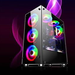 Gaming Computer PC Case RGB Cooling Fans For ATX/M-ATX/Mini