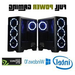 Intel Gaming Desktop PC Computer GTX 1060 VR Ready RGB tower