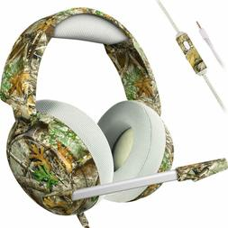 Gaming Headset Camo Gamer Headphones Mic for PC PS4 XBox Ali