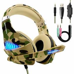 Gaming Headset Camo Headphones Camoflauge for PS4 Xbox PC Al