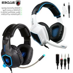 Sades Gaming Headset Stereo Headphone 3.5mm Wired W/Mic For