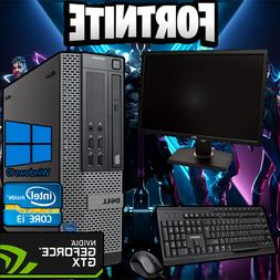 Gaming Dell Pro Budget Intel i3 Fortnite Desktop PC 500GB wi