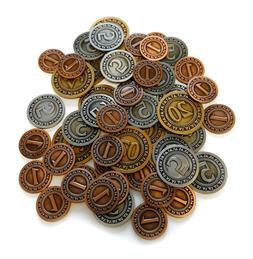generic metal coins for board games 50