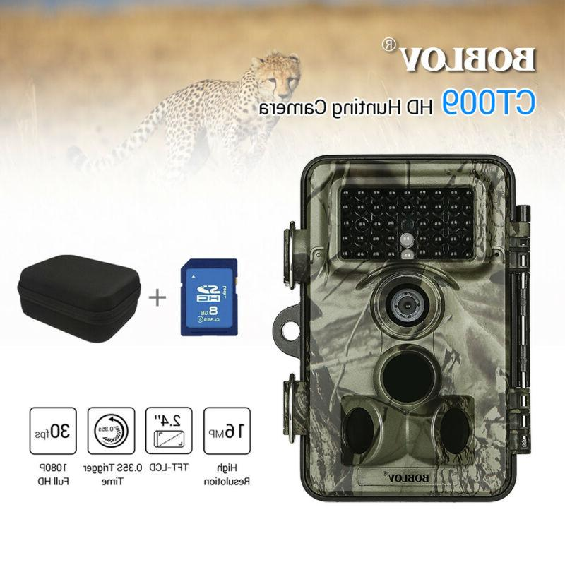 1/2Pcs 16MP Game Camera Card+Bag Full 1920x1080 Plant Monitor