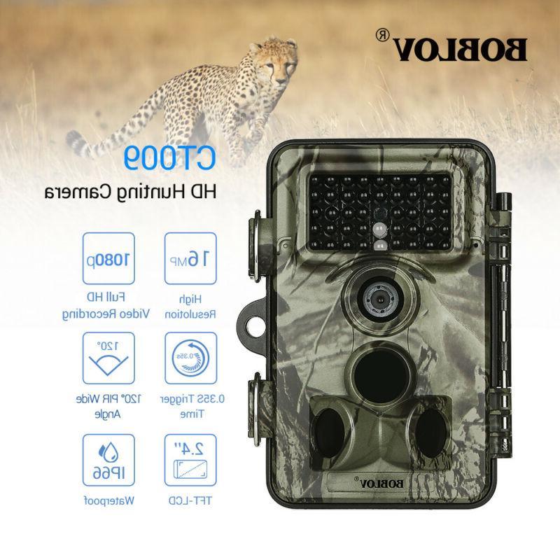 1 2pcs 16mp 1080p trail game camera