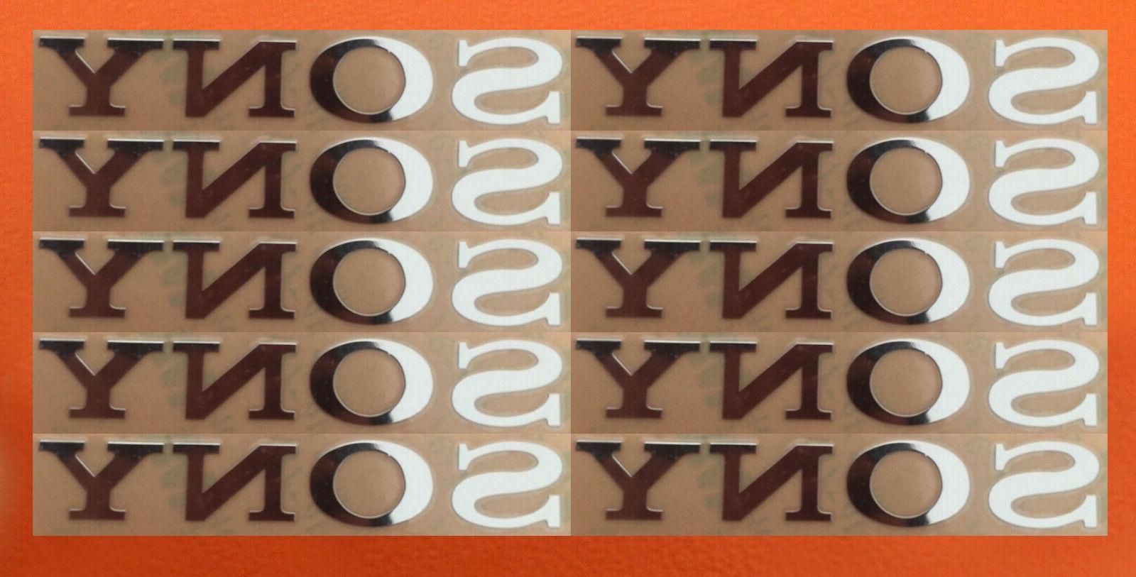 10 pcs sony sticker silver logo tv