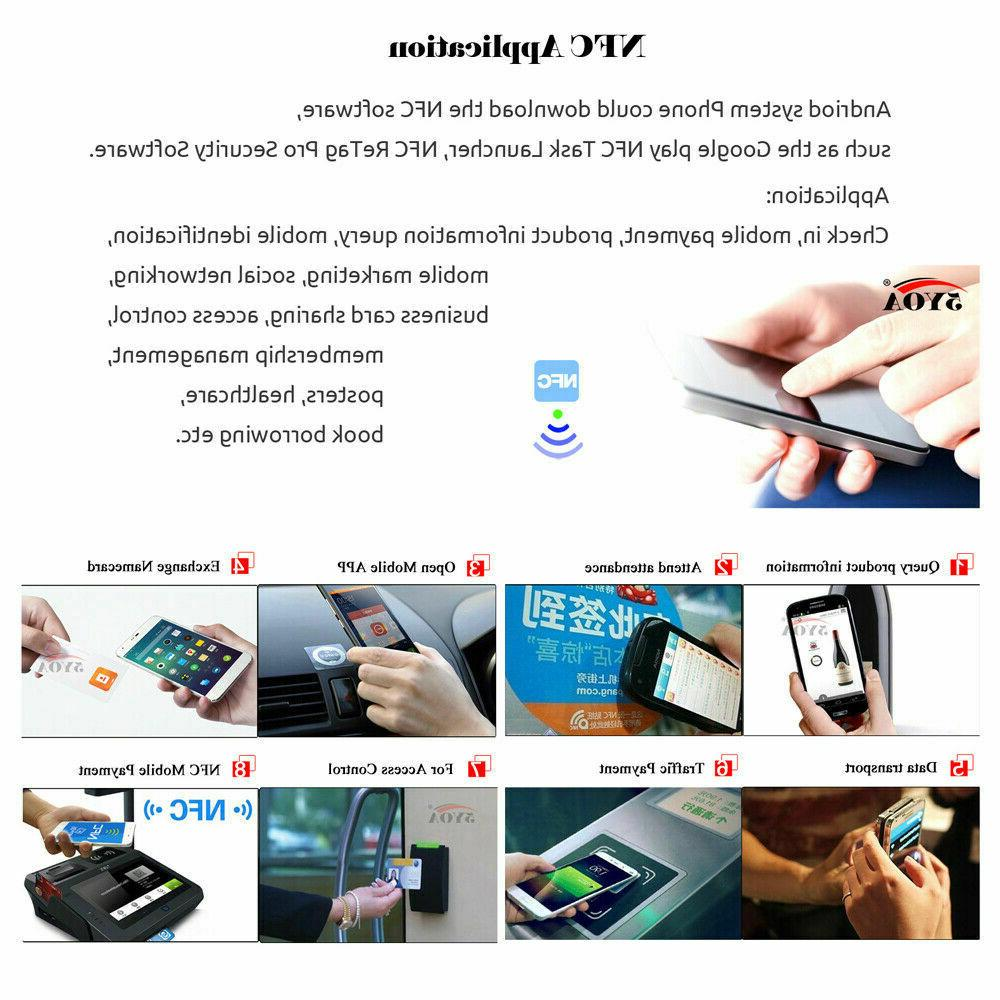 100PC NFC Amiibo TagMo NTAG215 NFC Card Blank PVC