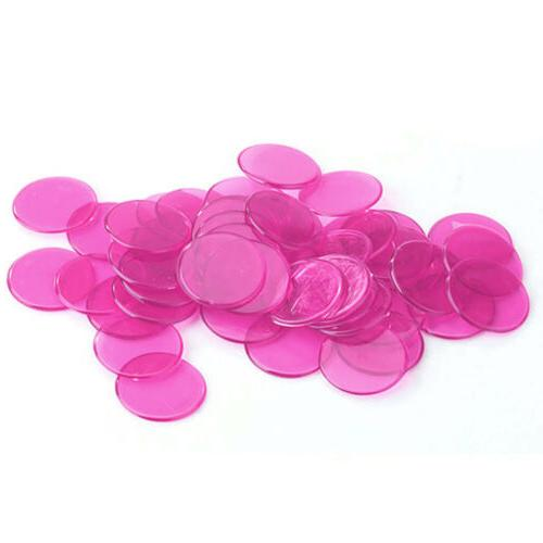 100pcs inch Clear Purple Chips Props