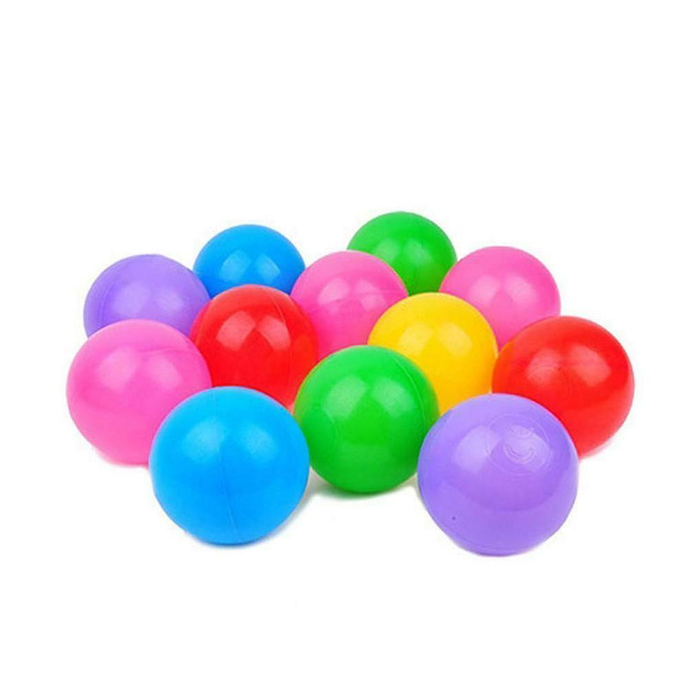 100pcs Plastic Toy Game Ball w/