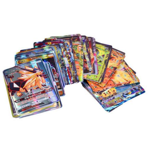 100Pcs GX + Holo Trading Card Game Mixed