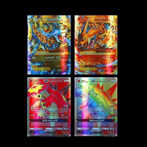 100Pcs GX + MEGA Holo Trading Card Game