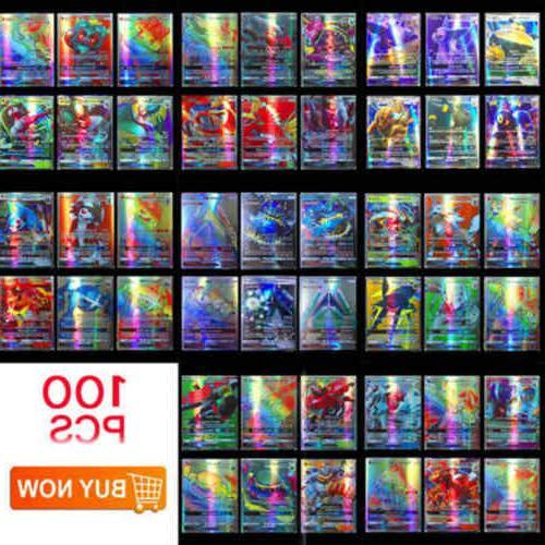 100pcs 95 gx 5 mega pokemon cards