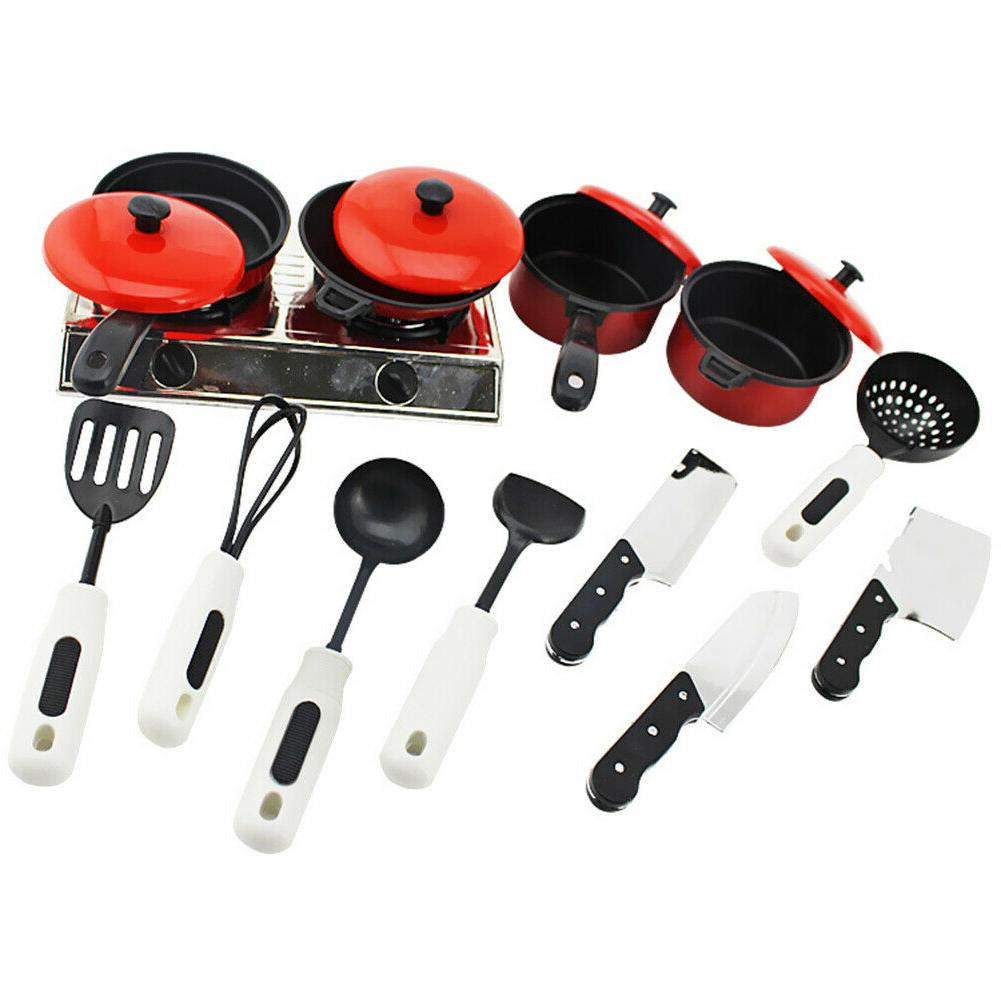 13pcs/Set Kids Toys Cooking Utensils Simulation Tableware Kits