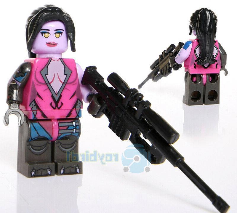14PCS Computer Game Character D.va Figure Building Blocks Toy