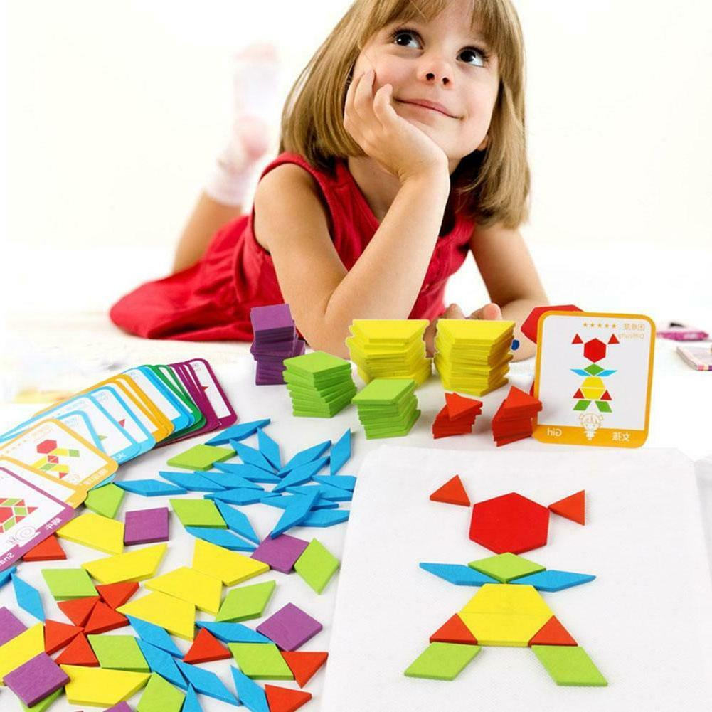155pcs Kids Wood Jigsaw Educational