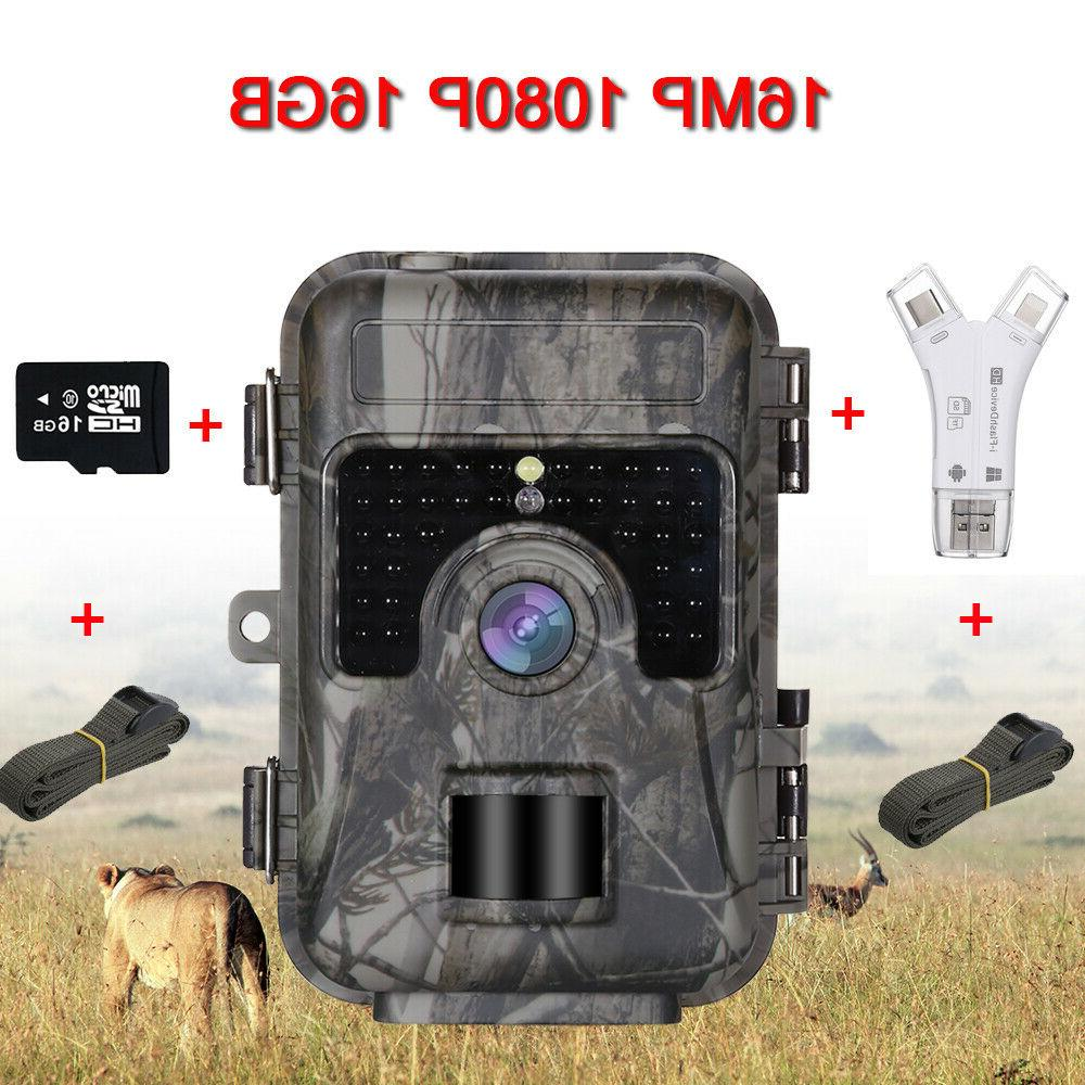16MP 16GB Game Scouting Camera With 4 Card Reader
