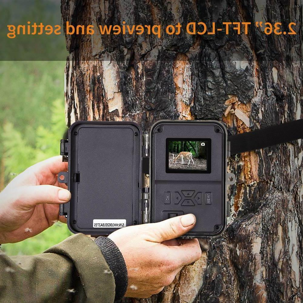 16MP 1080P 16GB Trail Game Scouting Camera 4 Reader