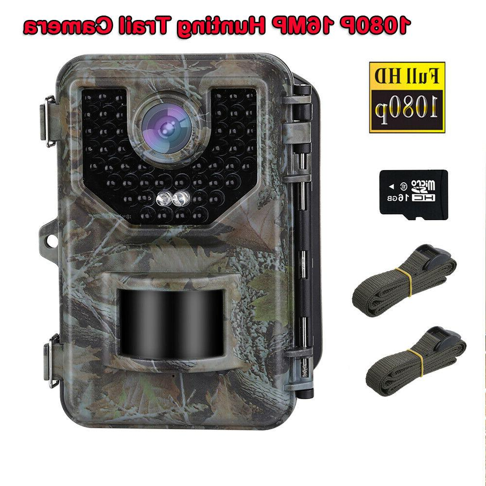 16MP 1080P Hunting Camera With 16GB Video + 2X Belt Trail Cameras