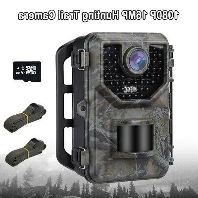 16mp 1080p hunting camera with 16gb photo