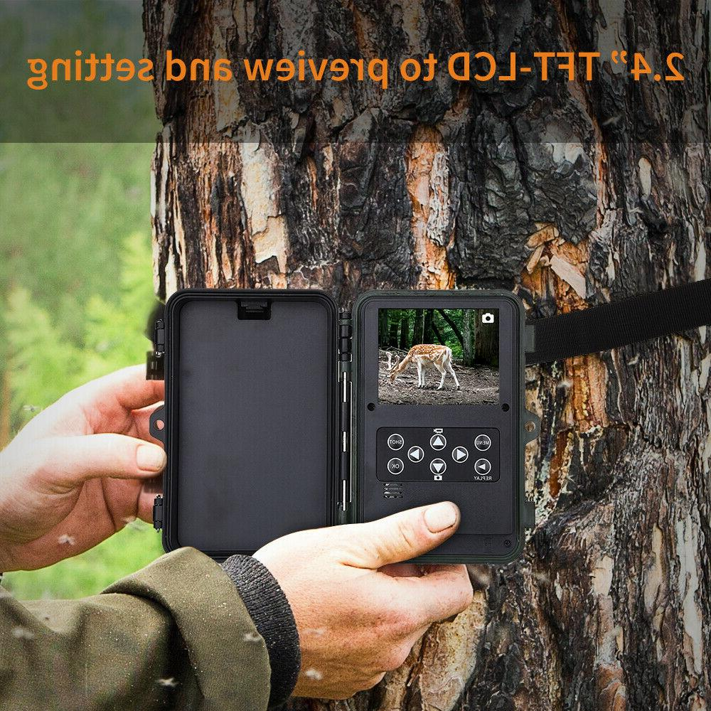 16MP Hunting Game Trail Camera 1920x1080P 48PCS Glow Security Cam
