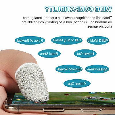 20pcs Screen PUBG Finger Sleeve Controller Mobile Sweatproof Gloves