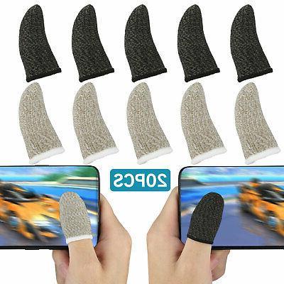 20pcs screen pubg gaming finger sleeve game