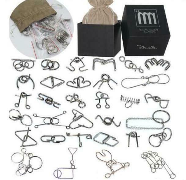 28/32PCS per Metal Puzzle Mind Brain Teaser Game Toys