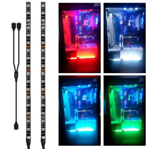 2x RGB PC Case Gaming LED Strip Light for Asus Aura Mid Towe